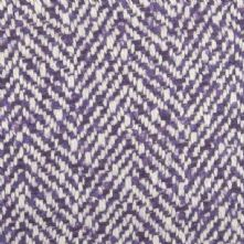 Herringbone Wool Blend Tweed Fabric in Purple and Ivory 150cm Wide